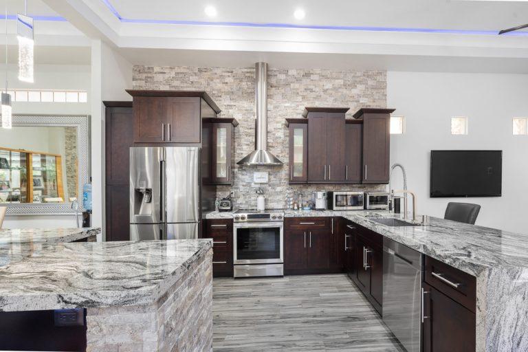 Marmer keuken interieur
